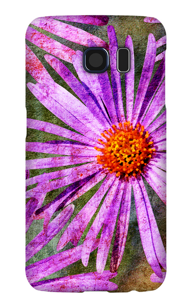 Birthday Blossoms September Aster Phone Case Galaxy S6