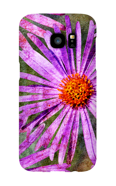 Birthday Blossoms September Aster Phone Case Galaxy S7 EDGE