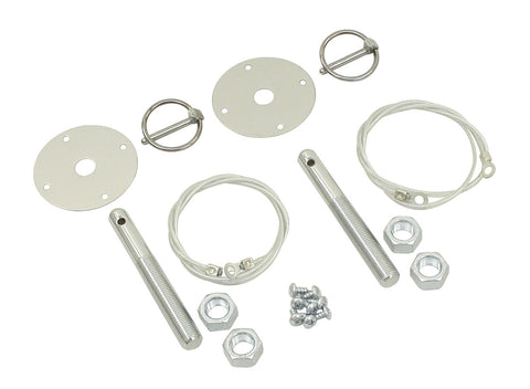 empi 3017, hood pin kit, chrome hood pin