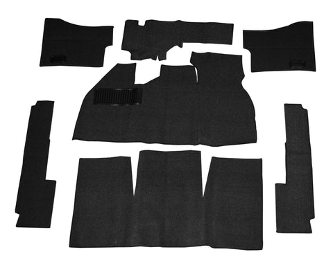 Classic VW Black Deluxe Carpet Kit Without Footrest 58-68 Beetle Empi 3081 - dubparts.com