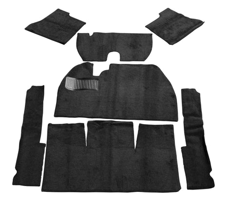 Classic VW Black Deluxe Carpet Kit With Footrest 69-72 Beetle Empi 3910 - dubparts.com