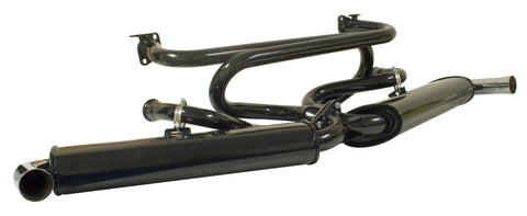 VW Dual Quiet Pack Exhaust with Extractor Empi 3121 *Ships Free*