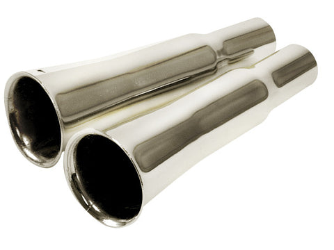 Chrome Flared Exhaust Tips Empi 3362