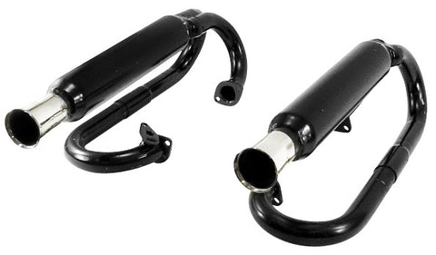 VW Dual Glass Pack Buggy Exhaust Empi 3376