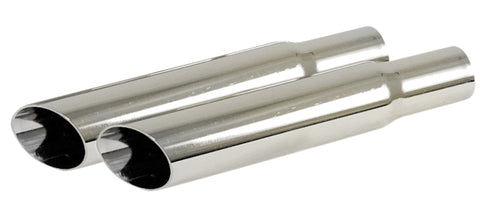 Classic VW Stainless Steel Angled Exhaust Tips Empi 3694 - dubparts.com