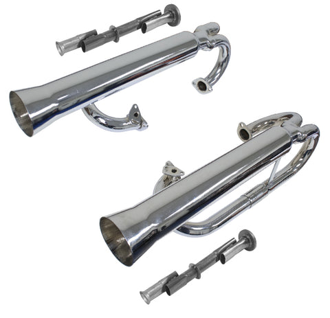 Classic VW and Buggy Dual Style Racing Exhaust Empi 3709 - dubparts.com