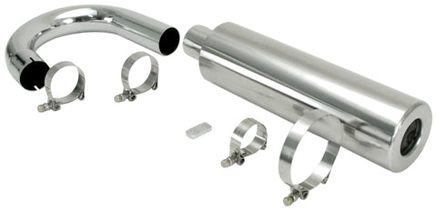 Classic VW Competition Stainless Steel Race Muffler Empi 56-3782 - dubparts.com