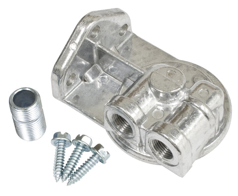 Classic VW Oil Filter Adapter with Nipple, Ports Left EMPI 9244