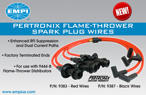 Classic VW Plug Wires for Pertronix Distributor Red or Black - dubparts.com