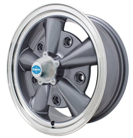 Classic VW 5 Rib Wheel Anthracite 5 x 205 mm Empi 9750 - dubparts.com