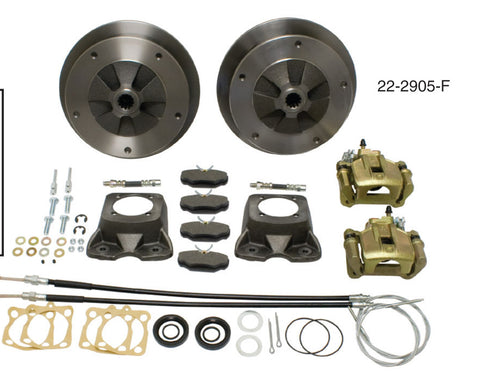Classic VW Rear Disc Brake for Swing Axle Wide 5 Empi 22-2905 F (with HD cast brackets - dubparts.com