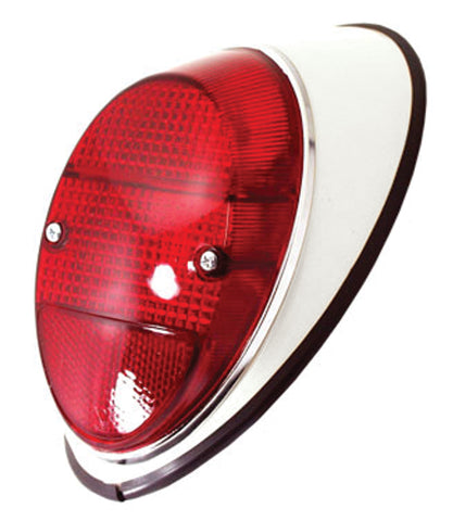 Classic VW Type 1 Taillight Assembly Red Painted Metal 98-2054-B
