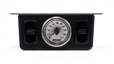 VW Bug, Beetle and Ghia Airlift Dual Needle, Dual Switch Gauge. - dubparts.com