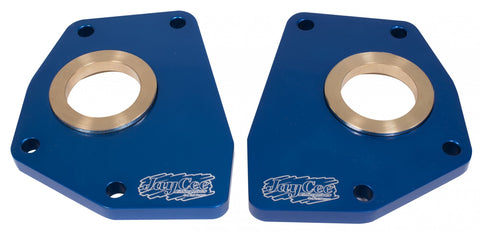 Classic VW Billet Spring Plate Retainer Blue Pair JayCee JC-2255