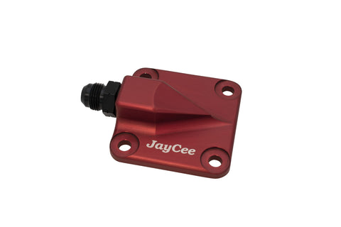 Classic VW Billet Full Flow Oil Pump Cover 8AN Red JayCee JC-2297 dubparts.com