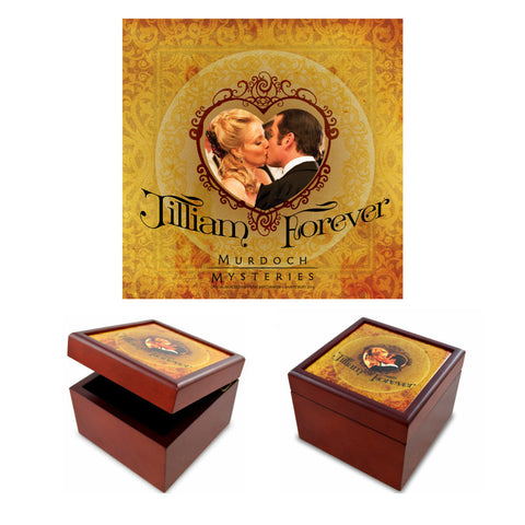 William and Julia Jilliam Forever Jewelry Box with Gold Tile Lid