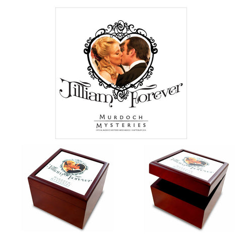 William and Julia Jilliam Forever Jewelry Box with White Tile Lid