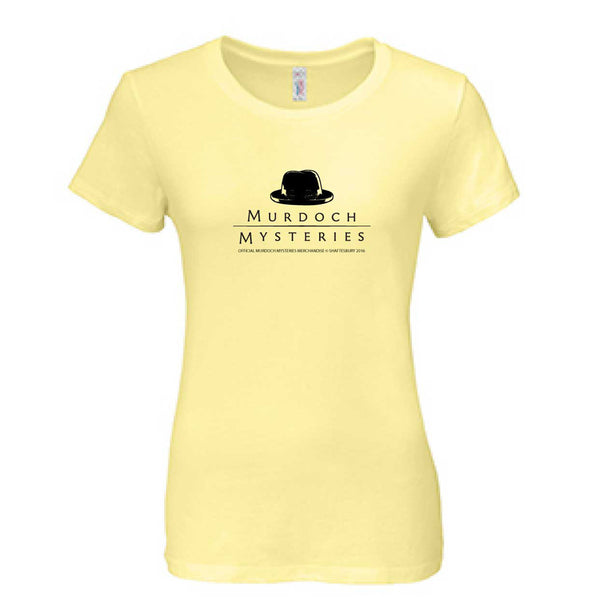 Murdoch Mysteries Hat Logo Womens Fitted Fit T-Shirt