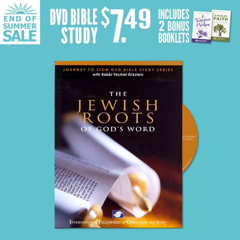 The Jewish Roots of God's Word DVD Bible study w/bonus Woman of Valor and Man of Faith booklets