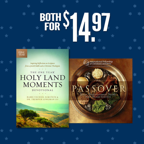 The One Year® Holy Land Moments Devotional PLUS Passover Inspirational Guide