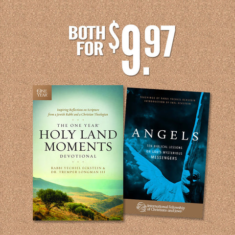 The One Year® Holy Land Moments Devotional PLUS Angels Booklet