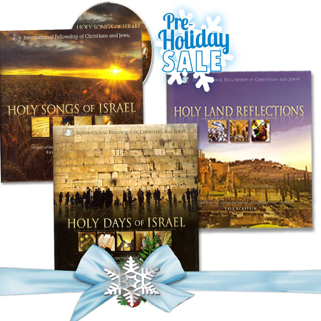 Inspirational Book Set - Holy Days of Israel, Holy Land Reflections, and Holy Songs of Israel