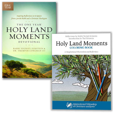 The One Year® Holy Land Moments Devotional PLUS Holy Land Moments Coloring Book