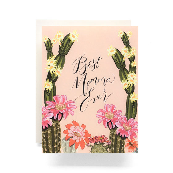 Cactus Bloom Momma Greeting Card