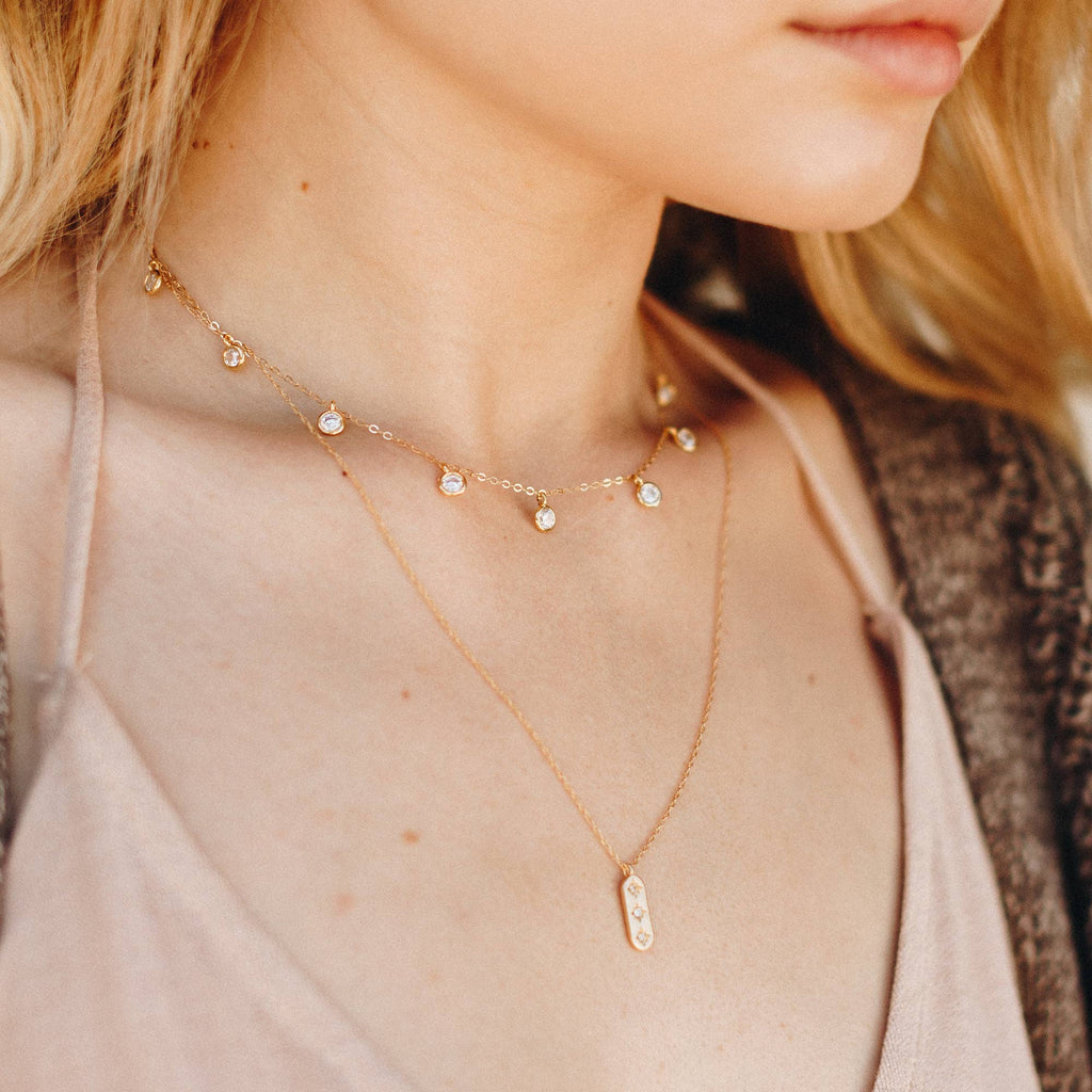 Wander + Lust Jewelry - Triple Dipper Necklace - KINDRED-the boheme collective