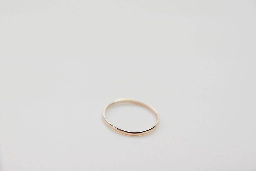 Devi Arts Collective - Simple Gold Filled Stacker Ring