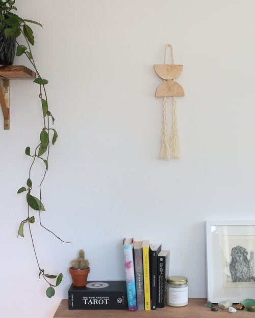 Mingled Goods - Maple & Rope Small Dune Hanging - KINDRED-the boheme collective