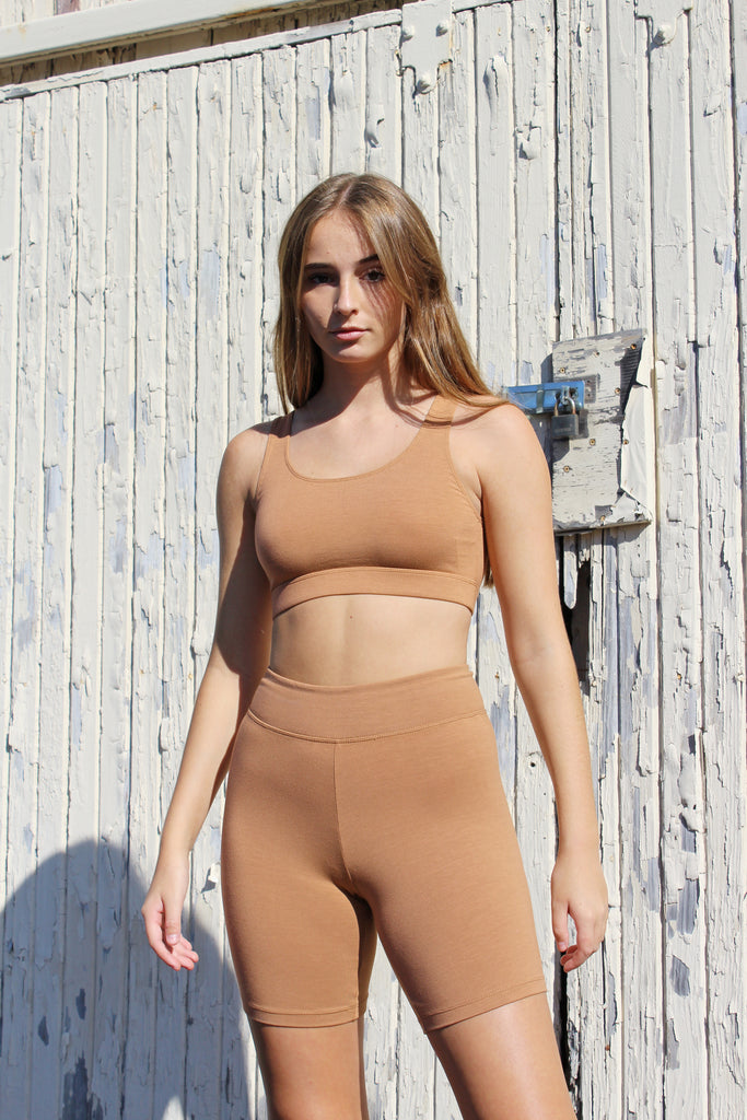 Bare Boutique - Mihi Crop Bra - Brown Sugar