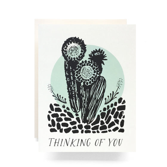 Cactus Thinking Of You Greeting Card - KINDRED-the boheme collective