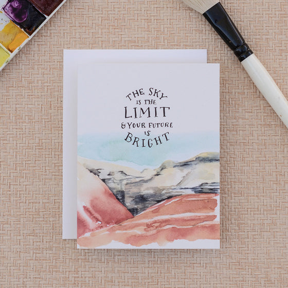 Big Sky Bright Future Greeting Card - KINDRED-the boheme collective