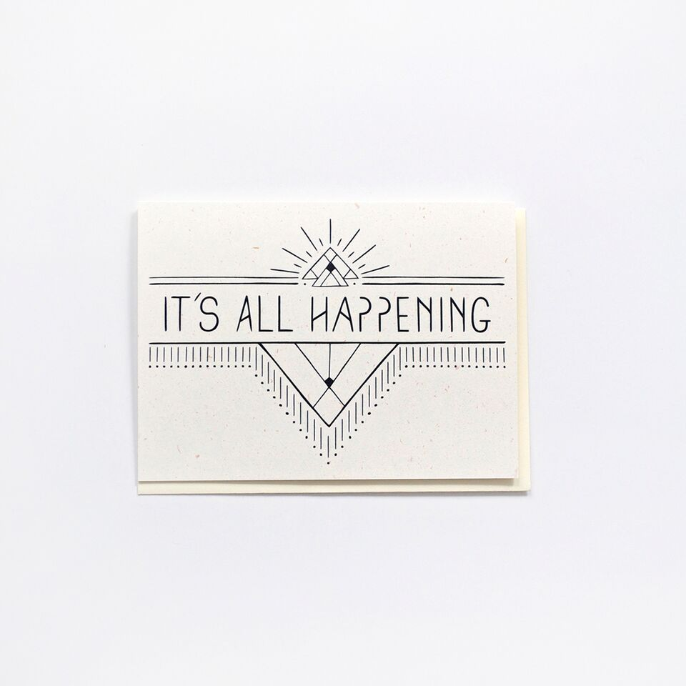 Onward Wander Studio - It's All Happening Card - KINDRED-the boheme collective
