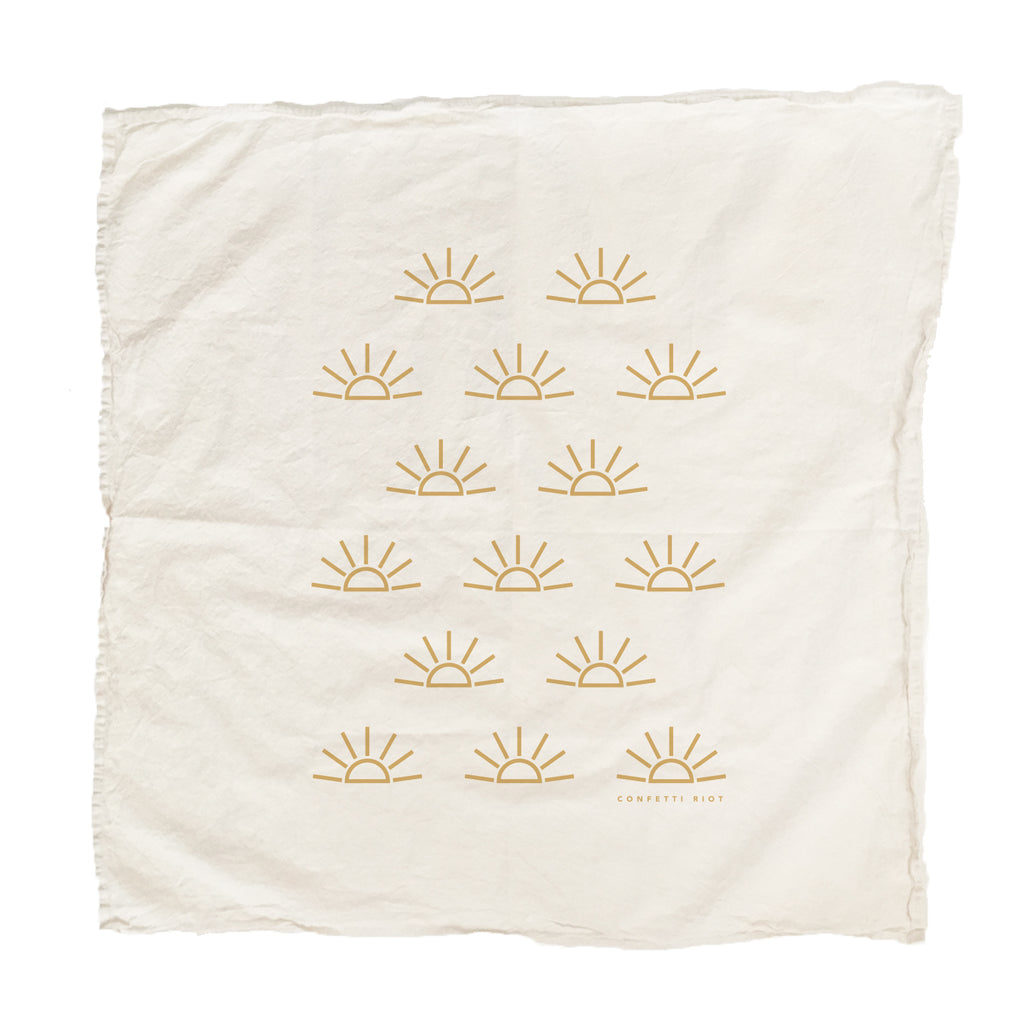 Confetti Riot - Sunrise Tea Towel - KINDRED-the boheme collective
