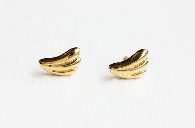 Diament Jewelry - Deco Leaf Studs - KINDRED-the boheme collective