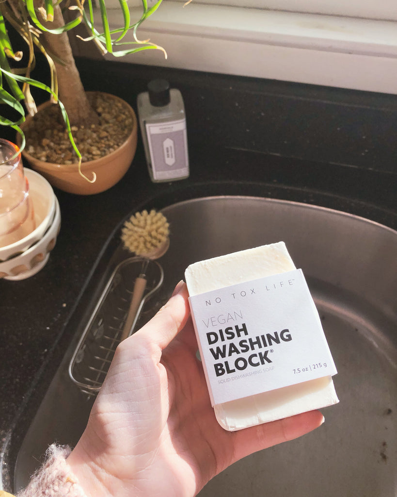 No Tox Life - Zero Waste Dish Washing Block® (7.5 oz) - KINDRED-the boheme collective