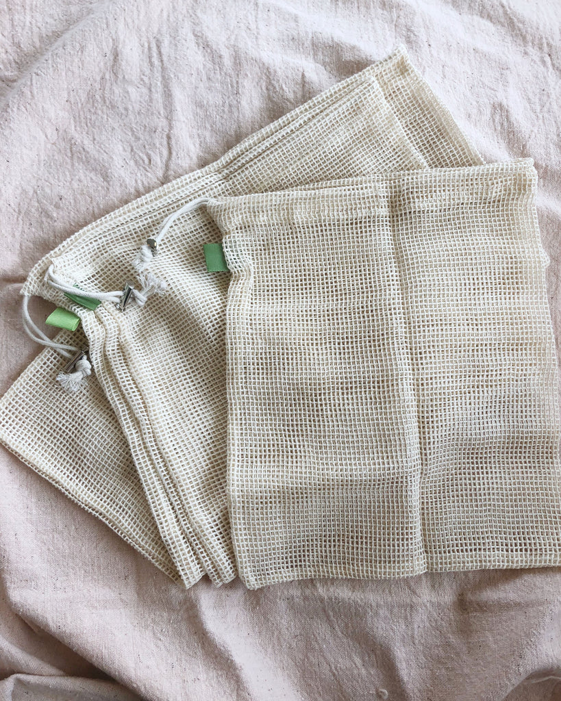 Cotton Mesh Produce Bags (Set of 3) - KINDRED-the boheme collective