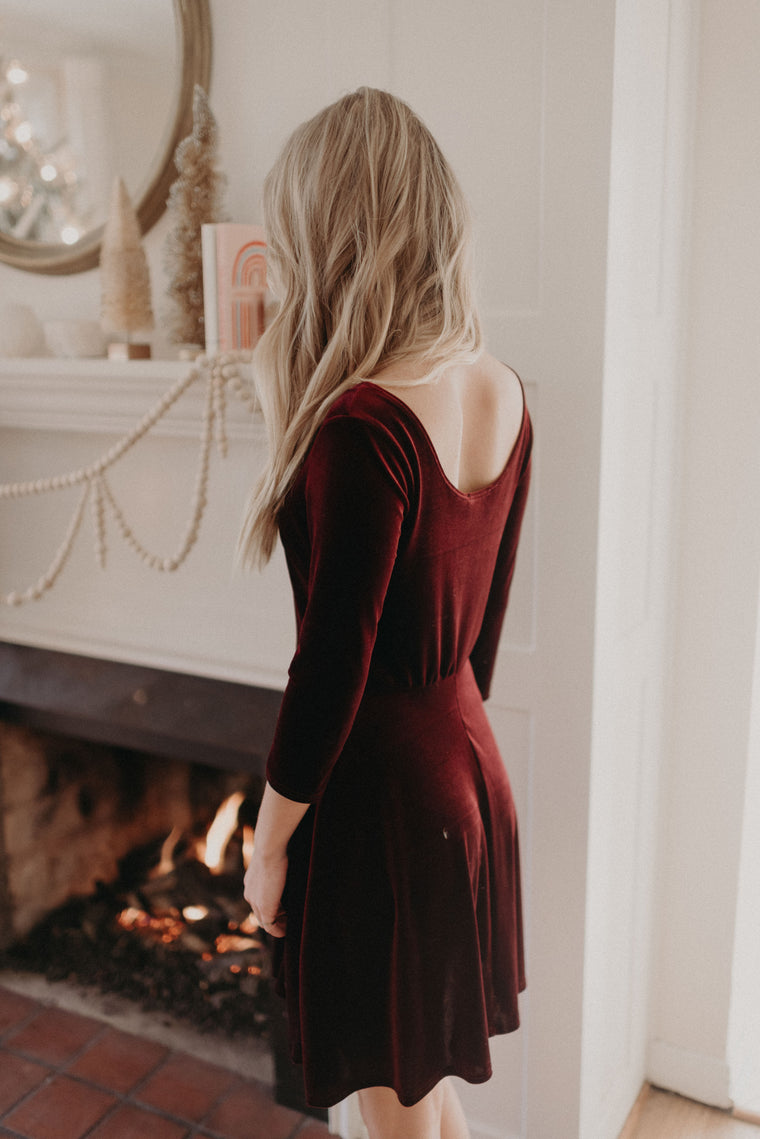 Winter Velvet Swing Dress