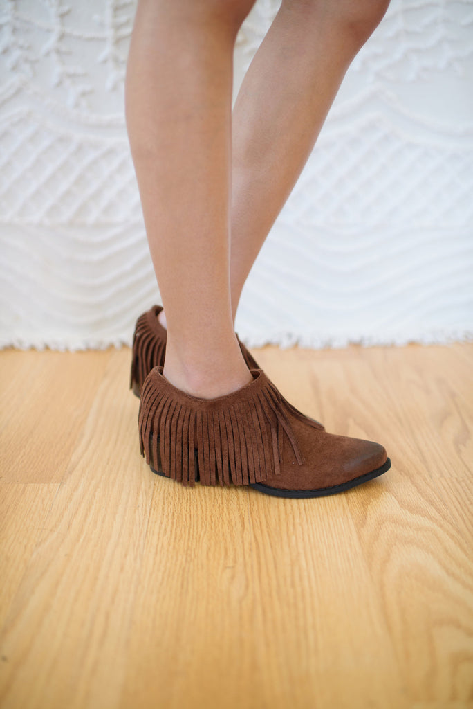 Bayou Saddle Fringe Bootie - KINDRED-the boheme collective