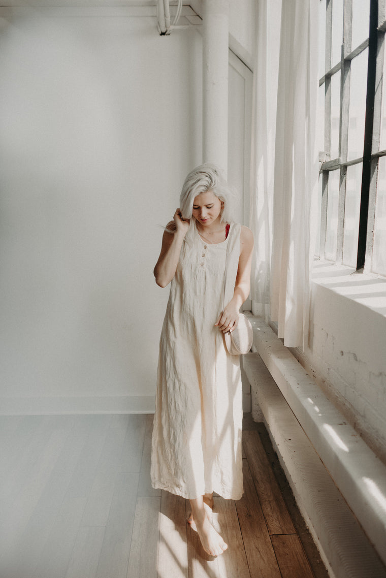 Vintage Pale Yellow Maxi