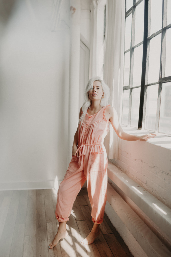 Vintage Ruffled Jumpsuit - KINDRED-the boheme collective