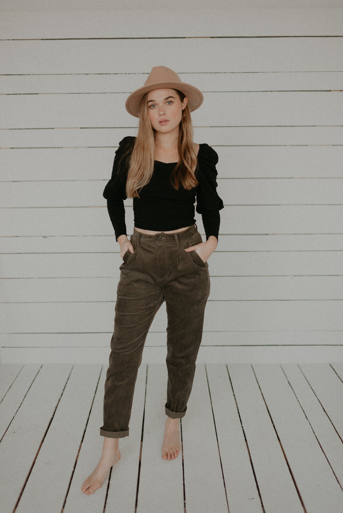 Corduroy Pleated Waist Trousers - KINDRED-the boheme collective