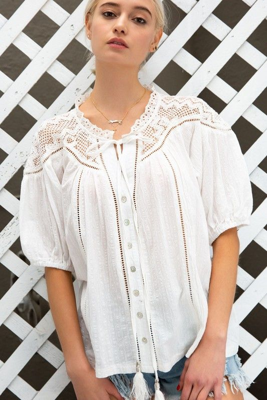 Summer Crochet Shirt