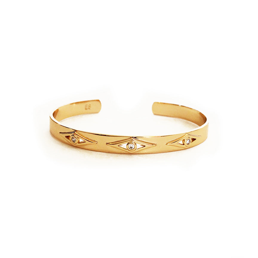Gold Geo Diamond Cuff - KINDRED-the boheme collective