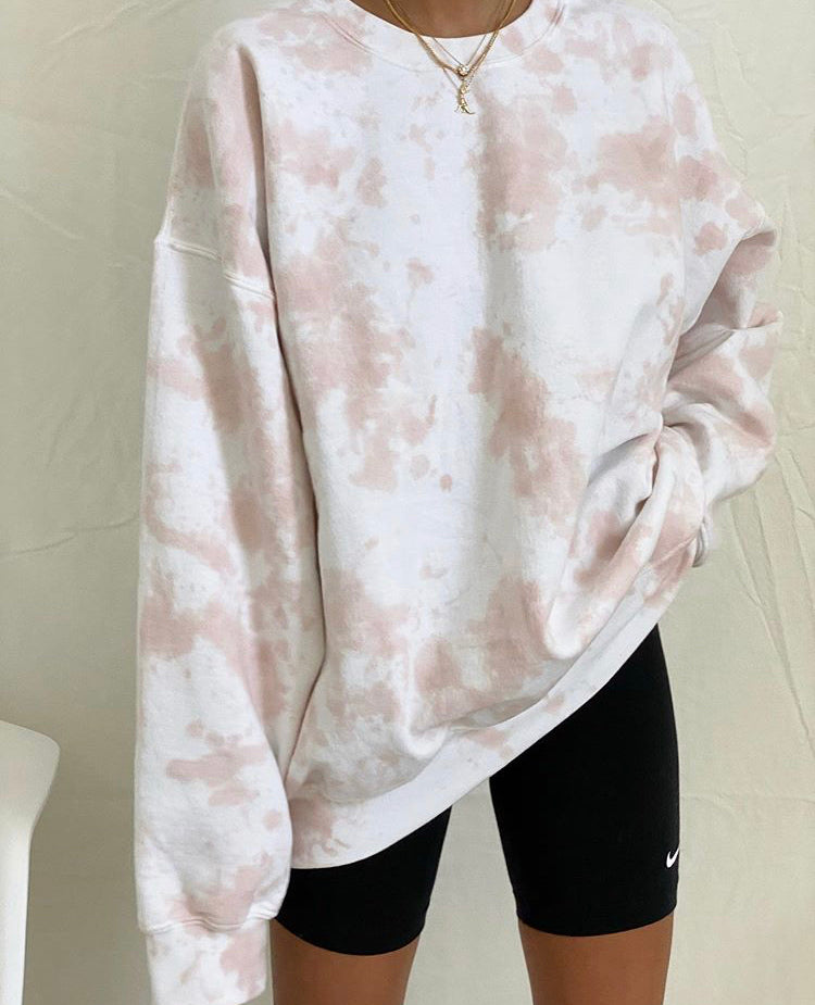 the things between - Rose Tie Dye Crewneck