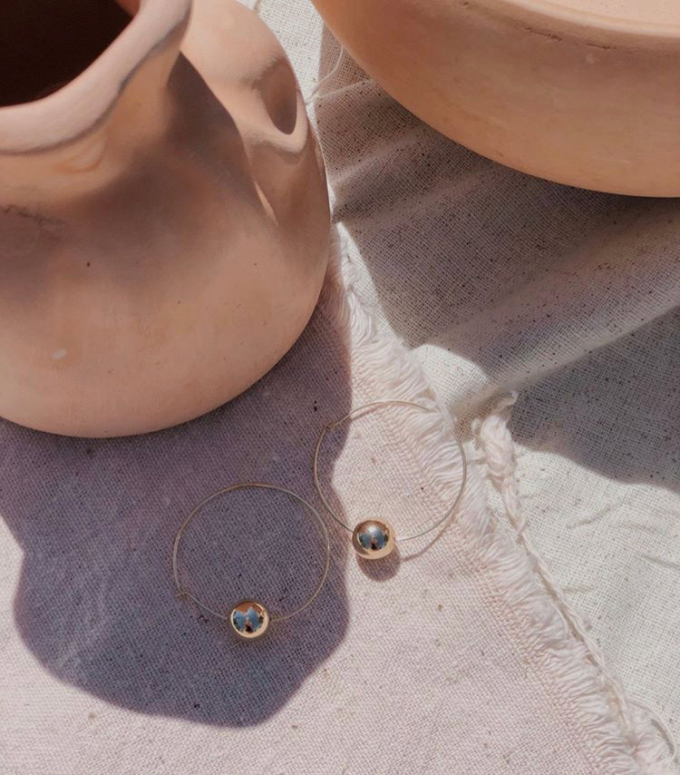 tumble jewelry - Pelota Hoop Earrings - KINDRED-the boheme collective