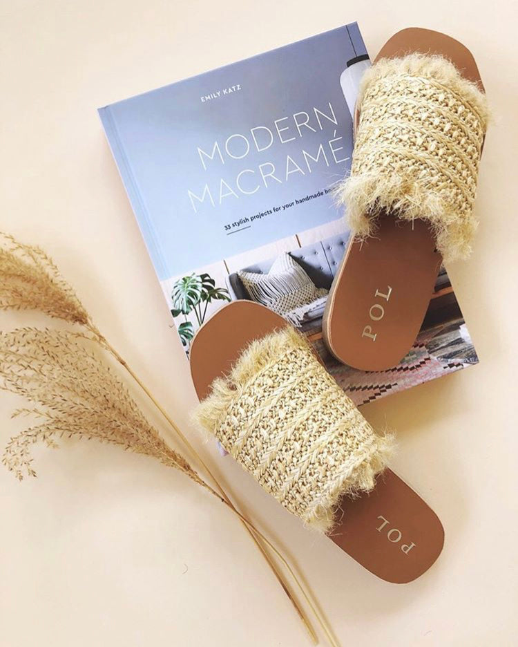 Hand Woven Straw Slide - KINDRED-the boheme collective