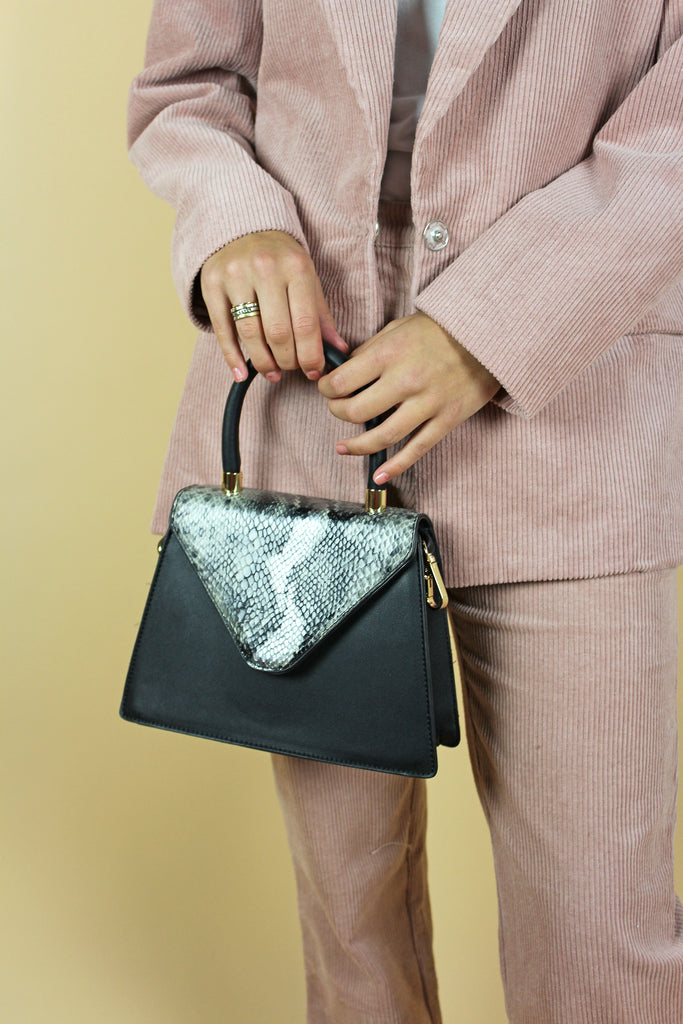 Snakeskin Black Bag - KINDRED-the boheme collective